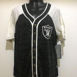 89762b78223 ... Oakland Raiders Women Baseball Style Jersey - NFL San Francisco 49ers  Light ...